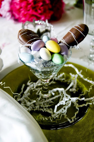 Easter chocolate bunny ears, Easter candy,,Easter tablescape