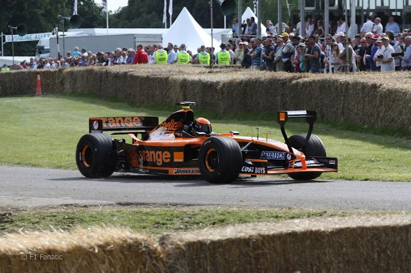 Болид Arrows на фестивале скорости в Гудвуде
