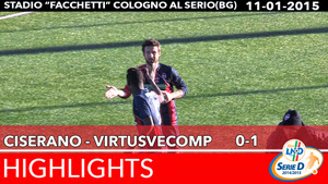 Ciserano - VirtusVecomp - Highlights del 11-01-2015