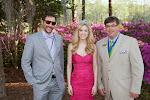 Celebrity Guest Trevor Munson, 2014 Azalea Queen Kirsten Haglund, President Steve Coble