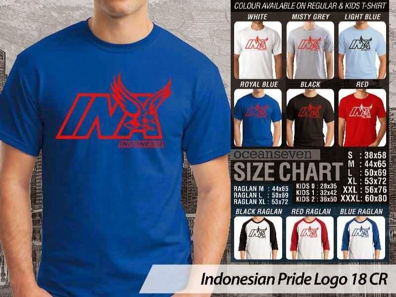 KAOS INA Indonesian Pride Logo 18 distro ocean seven