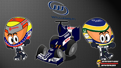 Williams FW34 и пилоты Пастор Мальдонадо и Бруно Сенна - Los MiniDrivers 2012