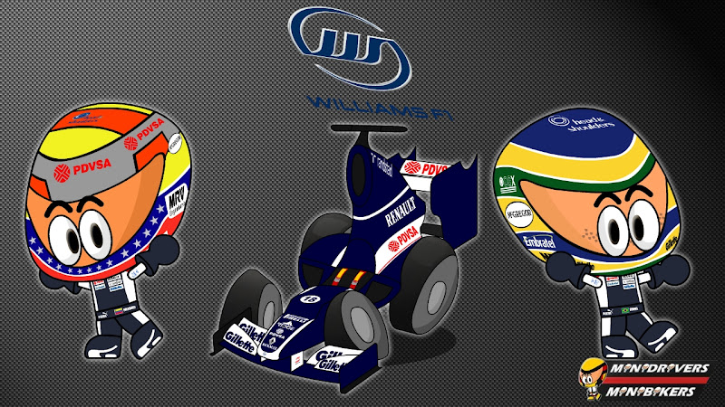 Williams FW34 и пилоты Пастор Мальдонадо и Бруно Сенна - Los MiniDrivers 2012