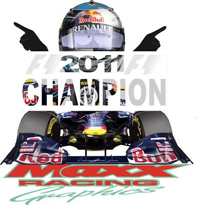 Себастьян Феттель и Red Bull берут чемпионский титул на Гран-при Кореи 2011 Maxx Racing