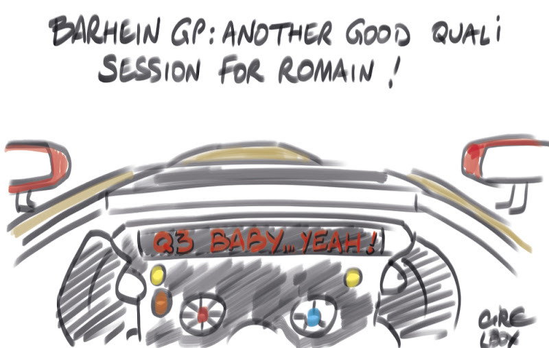 Cirebox live cartoon - 5 minutes to go... Good luck for the race Romain