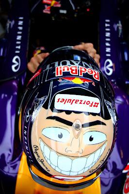 шлем Даниэля Риккардо для Гран-при Абу-Даби 2014