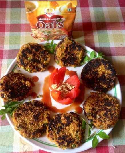 Saffola Masala Oats Vegetable Cutlets Recipe