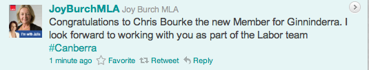 Joy Burch tweet
