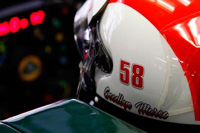 шлем Ярно Трулли в память о Марко Симончелли на Гран-при Индии 2011