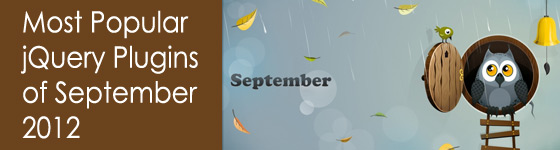 Top jQuery Plugins of September 2012