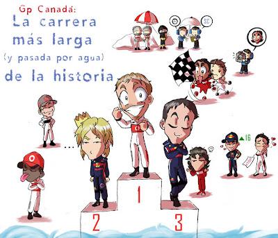 анимешная картинка Noe Izumi по дождевому Гран-при Канады 2011