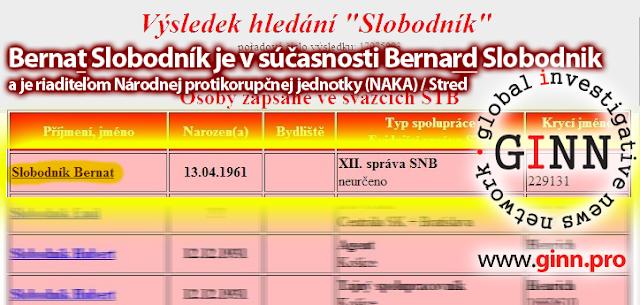 Bernard Slobodník, starší referent ŠTB, cibulkove zoznamy