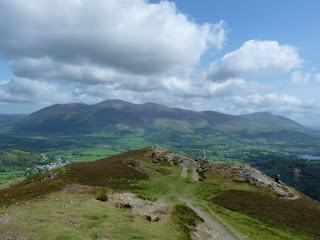 Barrow summit with Skiddaw in the background.