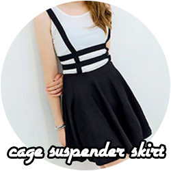 cage suspender skirt