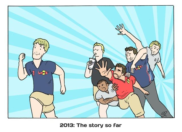 Пока история такова - комикс Stuart Taylor по Гран-при Венгрии 2013.