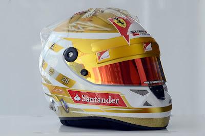 шлем Фернандо Алонсо для Гран-при Монако 2012 - вид спереди