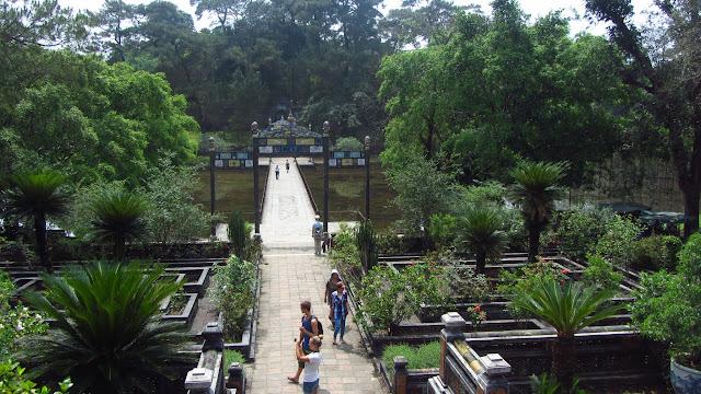 Gardens at the tomb of Minh Mang.