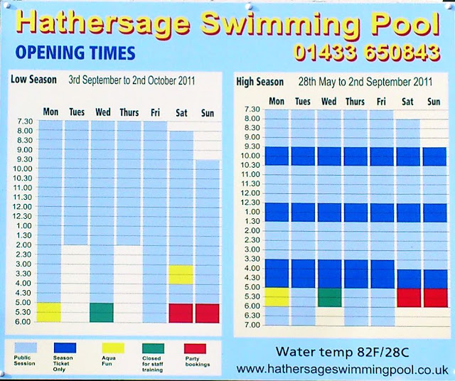Hathersage Swimming Pool Lido 2011 Opening Times