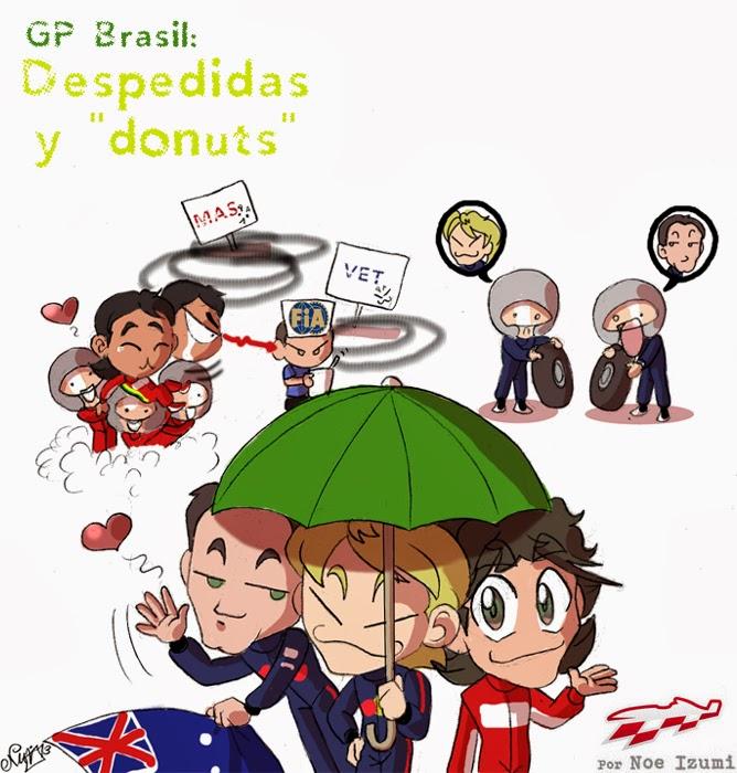 Прощальные пончики - чиби-пилоты Noe Izumi по Гран-при Бразилии 2013