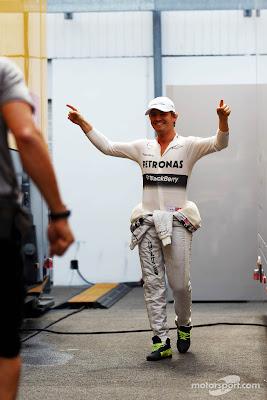 Нико Росберг в паддоке Хунгароринга на Гран-при Венгрии 2013