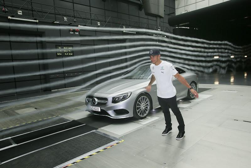 Льюис Хэмилтон и Mercedes в аэродинамической трубе перед Гран-при Германии 2014