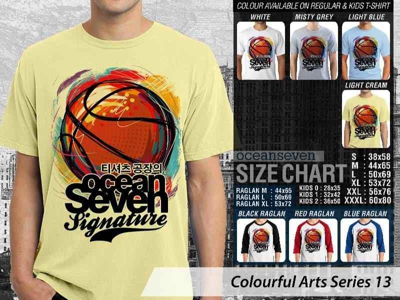 KAOS keren Colourful Arts Series 13 bola basket | KAOS Colourful Arts Series 13 distro ocean seven
