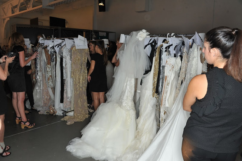 Backstage during the Australian Designer Fashion Palette Evening and Bridal Wear Spring Summer  2015 Show, held at Chelsea Pier 59 in New York City, Sunday, September 7, 2014. Photo by Katy Winn-Graylock.com 917-519-7666