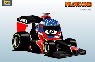 Шарль Пик Marussia MR01 pilotoons 2012