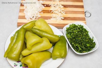 компоненты для закуски из болгарского перца