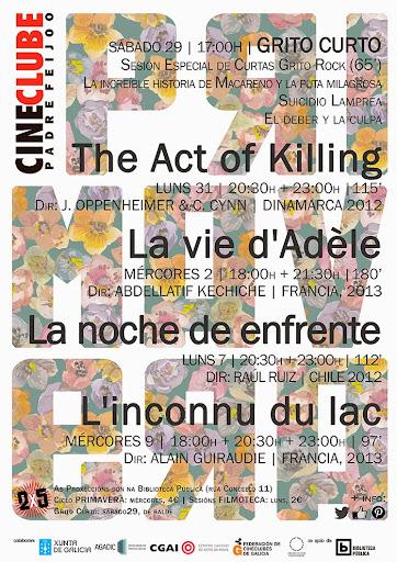 cartaz programación abril 2014 · cineclubePF