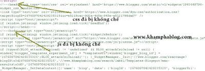 cách khống chế css và js mặc định của blogpsot
