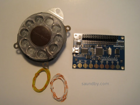 Propeller quickstart board and a telephone rotary dial...do I feel a project coming on?