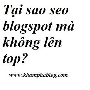 seo blogspot như thế nào