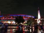 The Pavilion all lit up