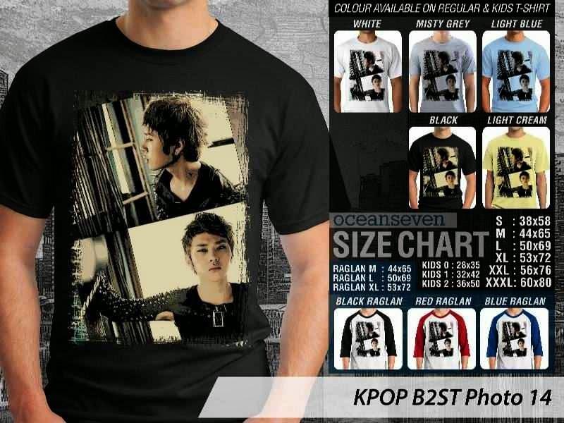 Kaos B2st 14 Photo K Pop Korea distro ocean seven