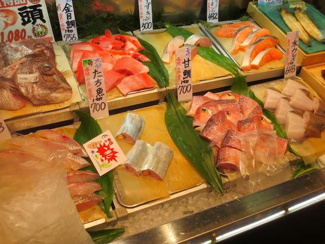 The fish selection at Iwataya
