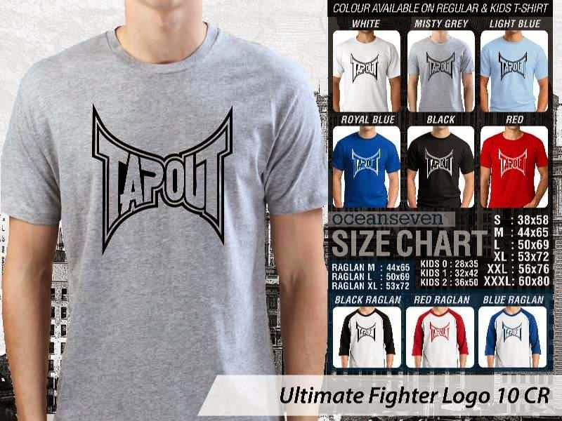 Kaos UFC Ultimate Fighter Tapout Logo 10 distro