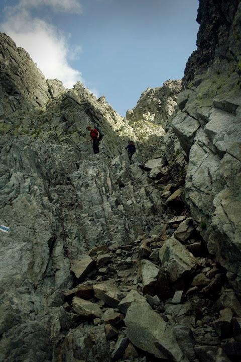 Zejście z Rohatki do Doliny Białej Wody