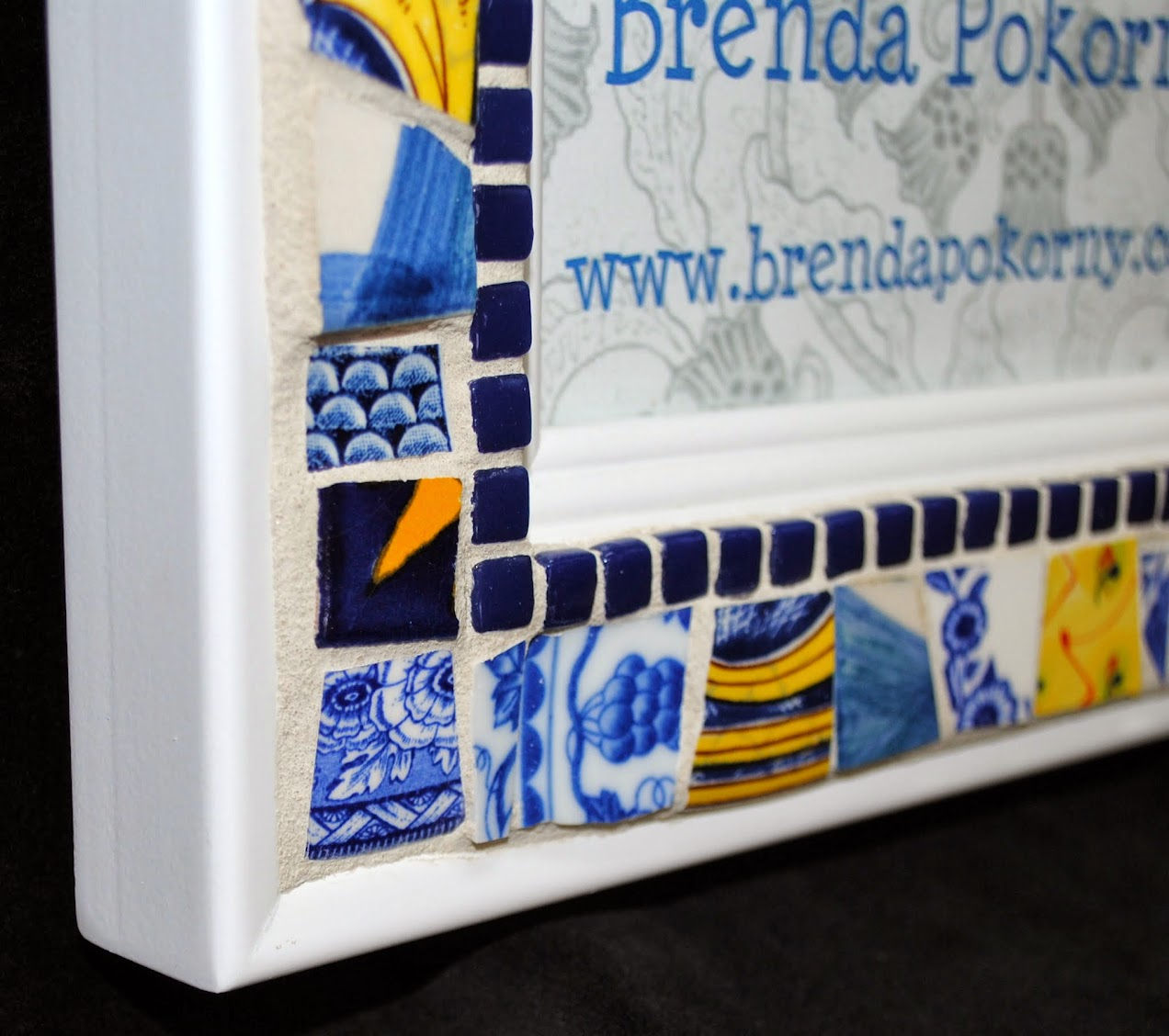Sunshine Blue and White 5 x 7 Mosaic Photo Frame MOF1402