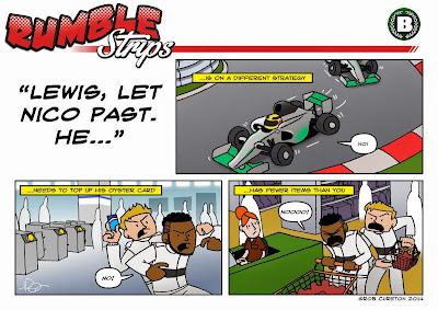 Нико Росберг хочет вперед Льюиса Хэмилтона - комикс Rumble Strips по Гран-при Венгрии 2014