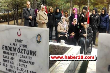 Çankırı'da Okullarına İsmi Verilen Şehidimizi Andılar