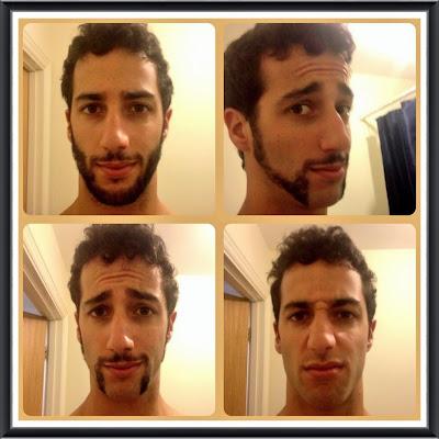 Даниэль Риккардо сбривает бороду