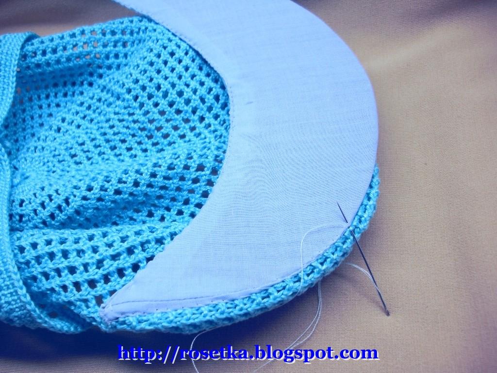схема вязания крючком козырька для кепки
