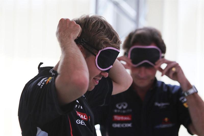 Себастьян Феттель и Кристиан Хорнер закрывают глаза на Гран-при Италии 2012