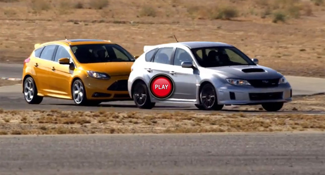 Ford Focus ST vs Subaru WRX for the Final ST Session Video
