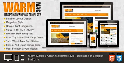 Warm Mag blogger templates