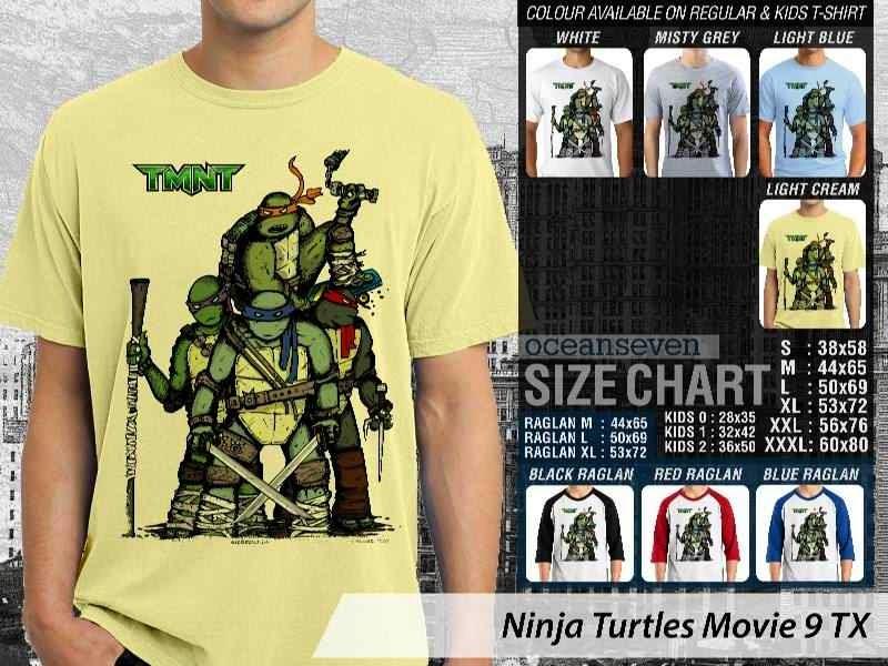 Kaos Movie Film Ninja Turtles Movie 9 distro ocean seven