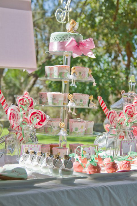 Pink & Green Fairy Dessert Table
