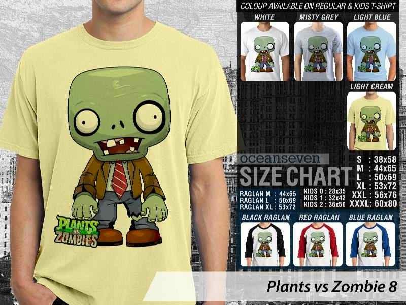 KAOS Plants VS Zombie pvz 8 Game Lucu distro ocean seven