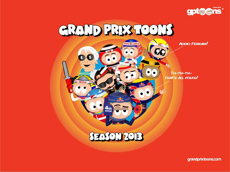 комикс Grand Prix Toons по сезону 2013